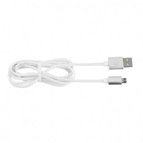 CÂBLE USBMICRO01 EN NYLON TRESSE 120 cm