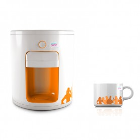 MACHINE A EXPRESSO + THÉ MODELE UD888 BLANC ET ORANGE