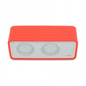 ENCEINTE BLUETOOTH ET POWERBANK POWERSOUND RED DYNABASS