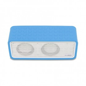 ENCEINTE BLUETOOTH ET POWERBANK POWERSOUND BLEU DYNABASS