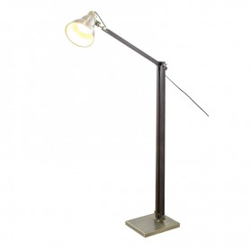 LAMPADAIRE ARTICULE AVEC PIED EN BOIS LARVIK BRONZE GASOLINE