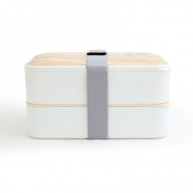 LUNCH BOX HERMÉTIQUE AVEC COUVERTS KWOOD2 BLANCHE KITCHENFRIDAY