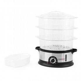 Cuiseur vapeur FOODEO V3 de KITCHENCOOK avec 3 bols empilables et 1 bol à riz
