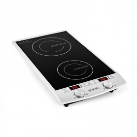 DOUBLE PLAQUE DE CUISSON A INDUCTION TACTILE AVEC AFFICHAGE LED INDUC2 KITCHENCOOK
