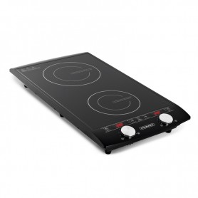 DOUBLE PLAQUE DE CUISSON A INDUCTION TACTILE AVEC AFFICHAGE LED INDUC2 BLACK KITCHENCOOK
