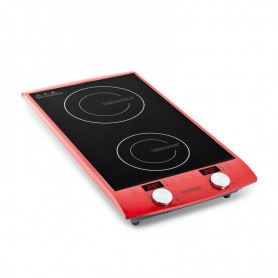 DOUBLE PLAQUE DE CUISSON A INDUCTION TACTILE AVEC AFFICHAGE LED INDUC2 RED KITCHENCOOK