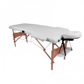 TABLE DE MASSAGE PLIANTE 2 ZONES BOIS PORTABLE TDM102 MASS WHITE YOGHI